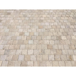 Pavé travertin beige 15 x...