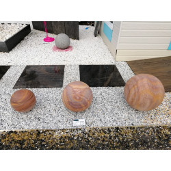 Sphère marbre poli RAIMBOW